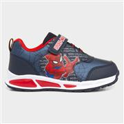 Spiderman Kids Light Up Trainer in Navy (Click For Details)