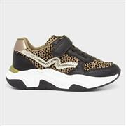 Sprox Girls Leopard Print Easy Fasten Trainer (Click For Details)