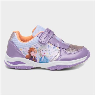 Kids Light Up Trainer in Lilac