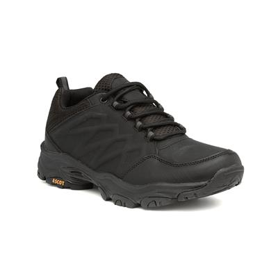 Mens Black Lace Up Hiking Trainer