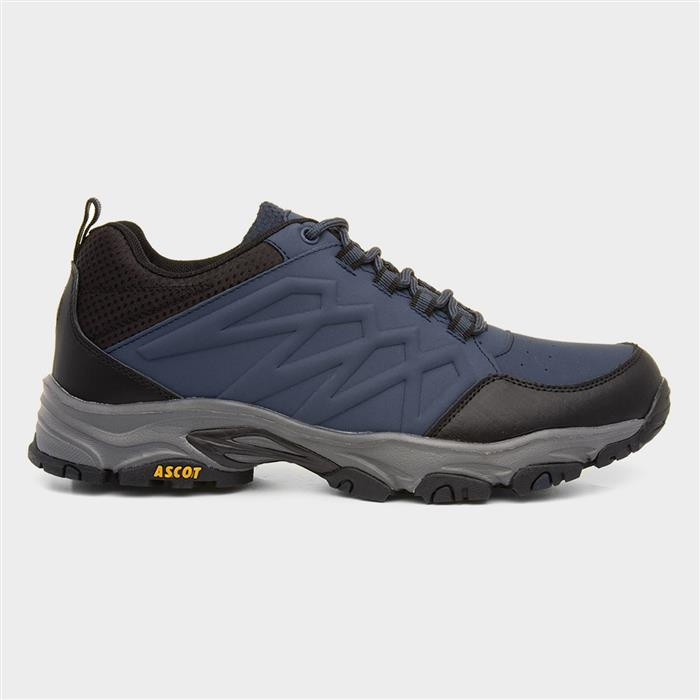 Ascot Shadow Mens Navy Lace Up Hiking Trainer