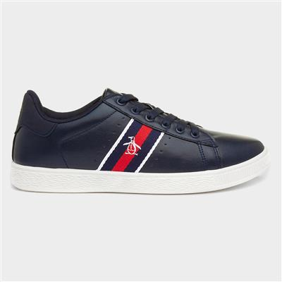 Plane Mens Navy Lace Up Trainer