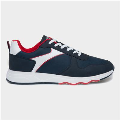 Mens Lace Up Trainer in Navy