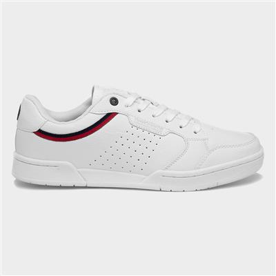 Minneapolis Mens White Lace Up Trainer