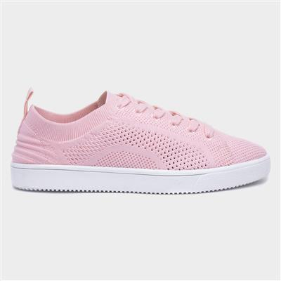 Tibor Womens Knitted Pink Trainer
