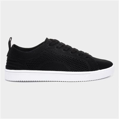 Tibor Womens Knitted Black Trainer