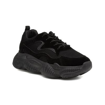 Bubble Womens Black Chunky Trainer