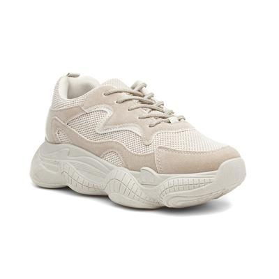 Bubble Womens Beige Chunky Trainer