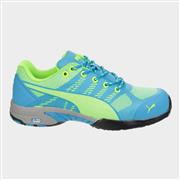 Puma Safety Womens Celerity Knit Blue Trainer (Click For Details)