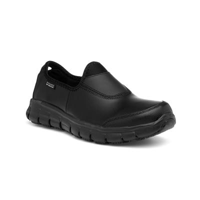 Sure Track Womens Black Slip On Shoe