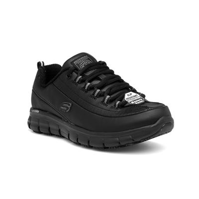 Womens Lace Up Black Trainer
