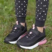 Girls Black & Pink Easy Fasten Trainers (Click For Details)