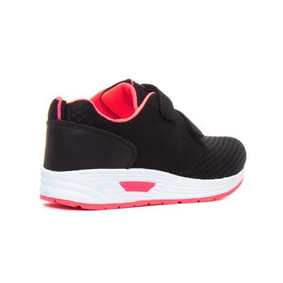 Mercury Girls Black /& Pink Easy Fasten Trainer