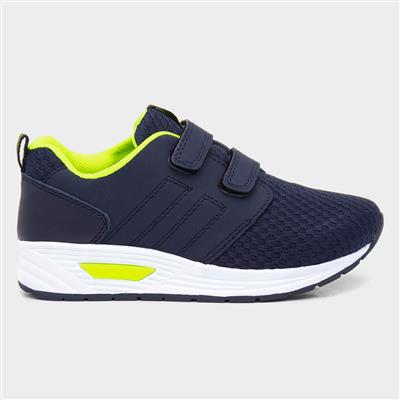 Kids Navy Easy Fasten Trainer
