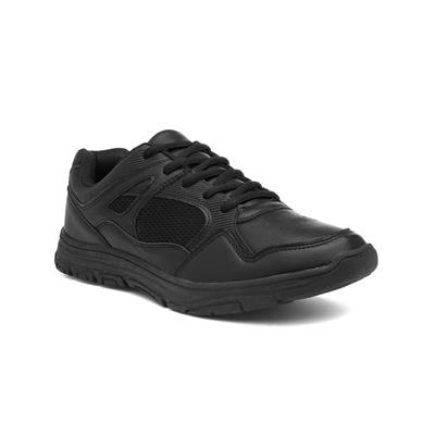 Mens Black Mesh Lace Up Trainer