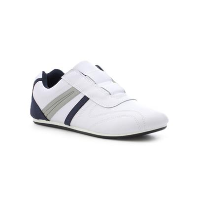 Mens White Slip On Sports Trainer