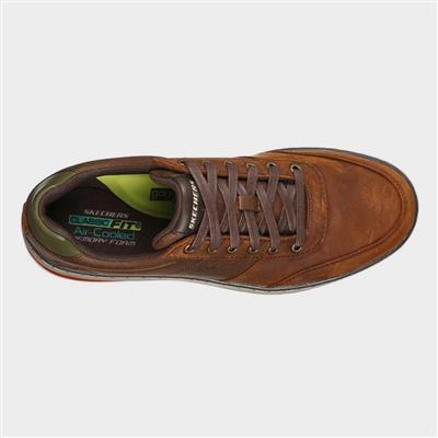 skechers mens evenston fanton casual shoe in brown830067