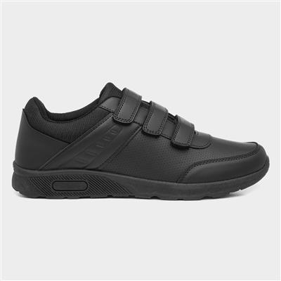 Mens Black Touch Fasten Shoe