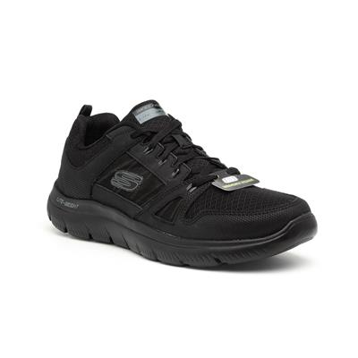 Summits Mens Black Lace Up Trainer