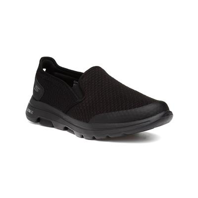 Go Walk Aprize Mens Black Slip On Trainer