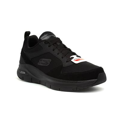 Arch Fit Mens Black Lace Up Trainer