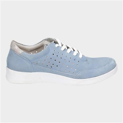 Molly Lace Up Shoe in Blue