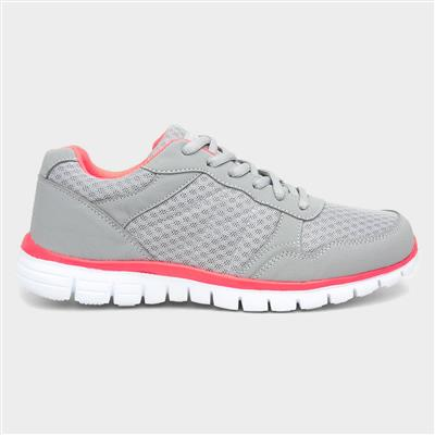Women's Light Grey Lace Up Trainer