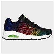 Skechers Womens Uno Eye Catching in Black (Click For Details)