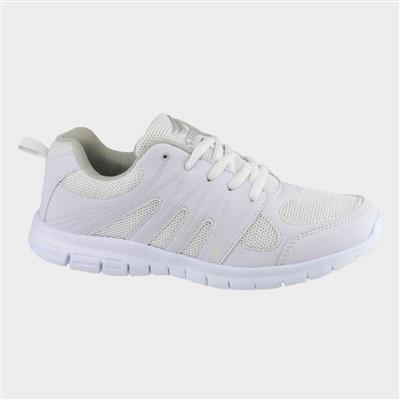 Milos Womens White Lace Up Trainers