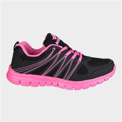 Milos Womens Black and Pink Trainer