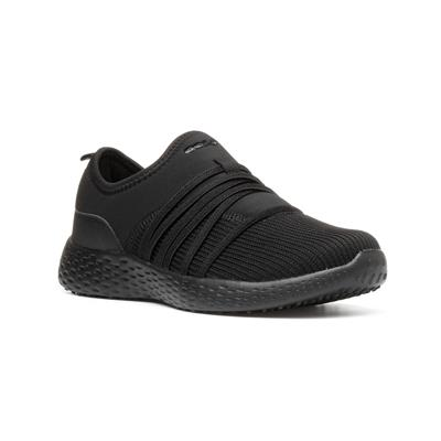 Womens Mira Black Slip On Trainer