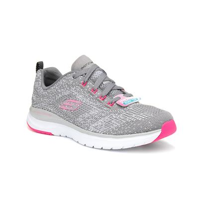 Ultra Groove Womens Grey Lace Up Trainer