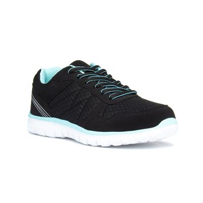 Womens Black & Mint Lace Up Trainer
