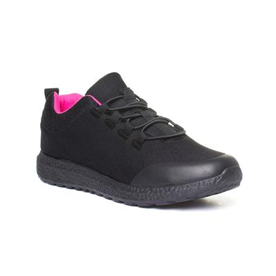 Womens Black & Pink Speed Lace Trainer