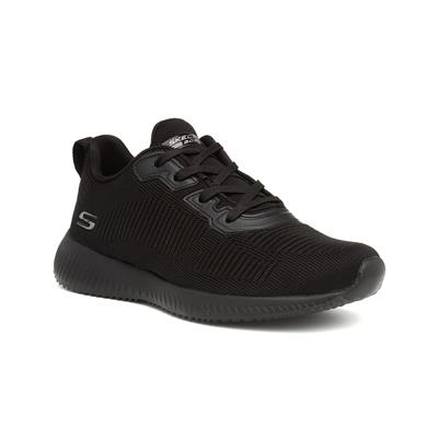 Bobs Squad Womens Black Lace Up Trainer