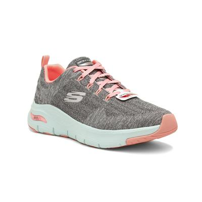 Arch Fit Womens Grey & Pink Trainers