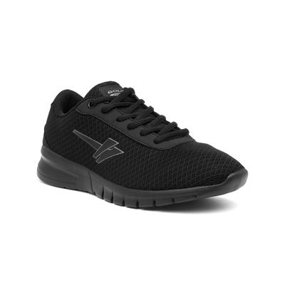 Beta Womens Black Lace Up Trainer