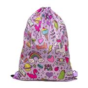 Girls Multi Coloured Printed Plimsoll Bag (Click For Details)