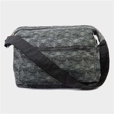 Black and Grey Cross Body Handbag