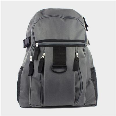 Grey Backpack with Multi Pocket