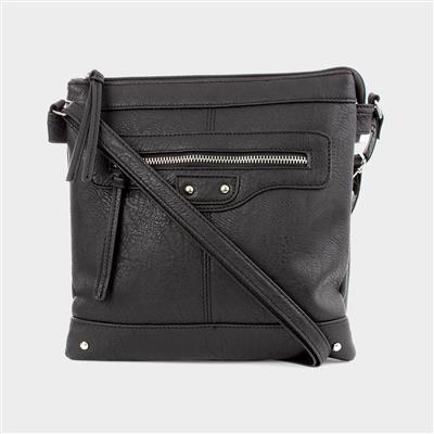 Black Zip Detail Handbag