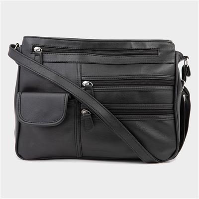 Organiser Shoulder Bag in Black