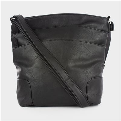Black Multiple Pocket Cross Body Bag