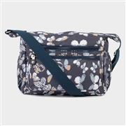 Navy Butterfly Print Cross Body Bag (Click For Details)