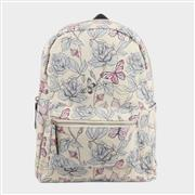 Cream and Multi Colour Butterfly Backpack (Click For Details)