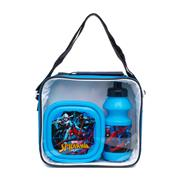 Spiderman Kids Lunch Bag with Bottle & Box in Blue (Click For Details)