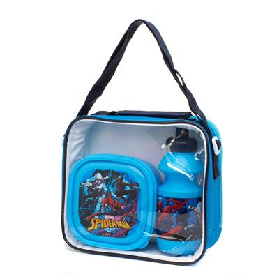 Kids Lunch Bag with Bottle & Box in Blue