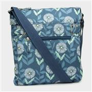 Blue & Floral Print Handbag (Click For Details)