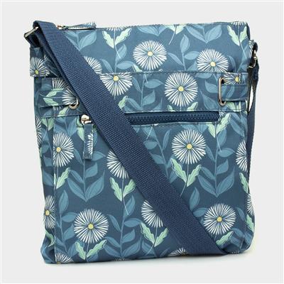 Blue & Floral Print Handbag