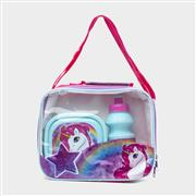 Unicorn Multi Coloured Lunch Bag with Bottle & Box (Click For Details)